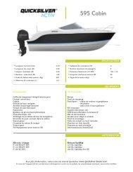 Fiche produit Activ 595 Cabin - Quicksilver Boats