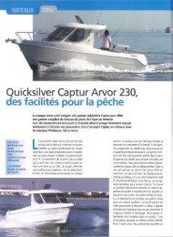 Essai bateau 230 Arvor - Magazine - Quicksilver Boats