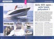 Essai bateau Activ 605 Open - Activment polyvalent - Quicksilver Boats