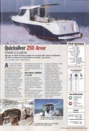 Boat test 250 Arvor - Magazine: Moteurboat - Quicksilver Boats