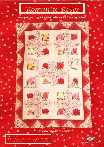 Romantic Roses pattern - Quilt-Blog.de