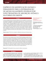 EmprEgo da modificação Química pErmanEntE ... - Revista Analytica