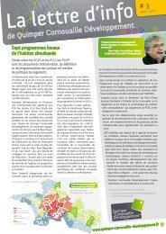 La lettre d'info de Quimper Cornouaille Développement #3 (avril 2012)