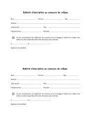 Billig - bulletin d'inscription et règlement du concours - Quimper ...