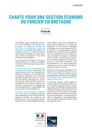 charte pour une gestion économe du foncier en bretagne - Quimper ...