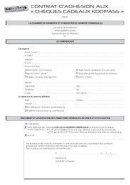 voir conditions générales de ventes - (CCI) de Quimper Cornouaille
