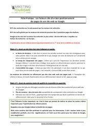 Fiche Pratique : Les facteurs clés d'un bon positionnement des ...