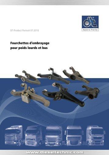 Fourchettes d'embrayage pour poids lourds et bus - Dieseltechnic.com