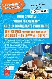 menus Grand Prix Guyader - (CCI) de Quimper Cornouaille