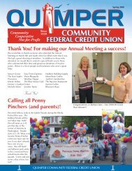 Thank You! - Quimper Community Federal Credit Union