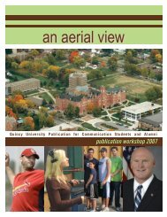 An Aerial View Spring 2007 - Quincy University