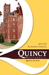 2012-2013 Academic Catalog - Quincy University