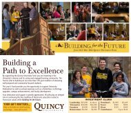 Building a Path to Excellence - Quincy University