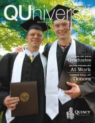 At Work Donors - Quincy University
