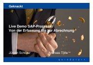 Live Demo SAP-Prozesse: Von der Erfassung bis zur ... - Quindata