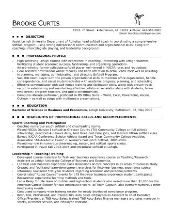 chrono functional resume