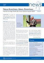 Neue Ansichten, Ideen, Einsichten - Quintessenz Verlag, Berlin