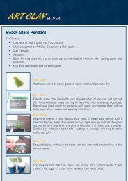 Beach Glass Pendant - Art Clay