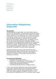 Information bildgebende Diagnostik - doc-maier.com