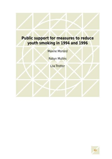 Public support for measures to reduce youth smoking ... - Quit Victoria