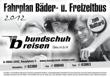 A-9900 LIENZ, Hauptplatz 5 . www.bundschuh ... - Gemeinde Lienz