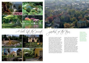 A look into the private gardens of the town - Lienz