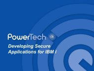 Developing Secure Applications for IBM i - QUSER