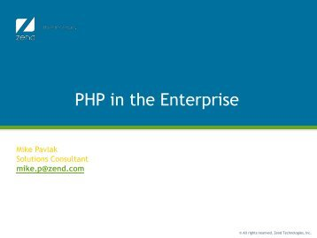 PHP in the Enterprise - QUSER