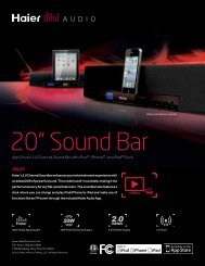 App Driven 2.0 Channel Sound Bar with iPod® ,iPhone ... - QVC.com
