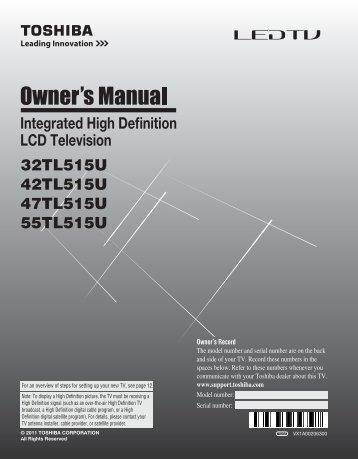 32TL515U 42TL515U 47TL515U 55TL515U Integrated ... - QVC.com