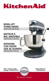 BOWL-LIFT STAND MIXER BATTEUR À BOL AMOVIBLE ... - QVC.com