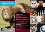 July 2013 School Holiday Program - Queen Victoria Museum and ...