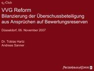 VVG Reform - QX-Club Köln