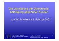 Vortragsfolien - QX-Club Köln