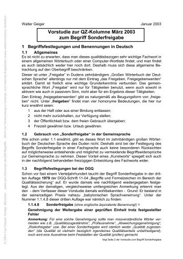 TerminusTechnicus Vorstudie 2003-03 - QZ-online.de