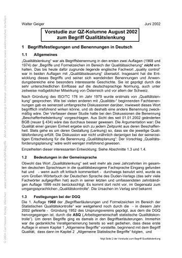 TerminusTechnicus Vorstudie 2002-08 - QZ-online.de