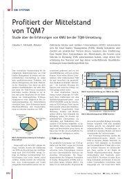 Profitiert der Mittelstand von TQM? - QZ-online.de