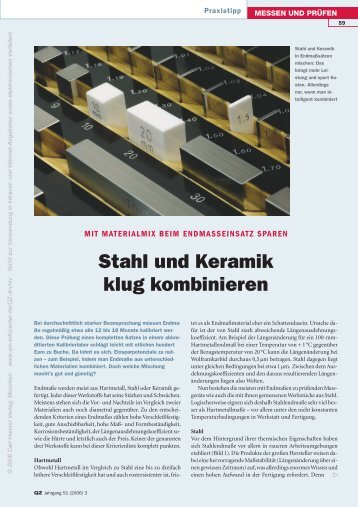 Stahl und Keramik klug kombinieren - QZ-online.de