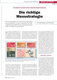Die richtige Messstrategie - QZ-online.de