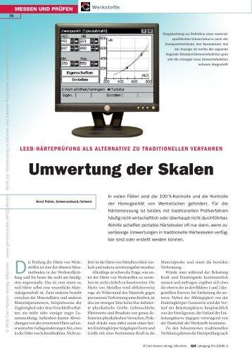 Umwertung der Skalen - QZ-online.de