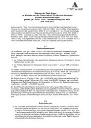 Satzung der Stadt Ahaus zur Abänderung der Fristen bei der ...