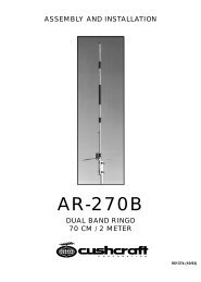 AR270 Dualband Fixed Station Antenna Manual