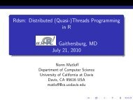 Rdsm: Distributed (Quasi-)Threads Programming in R eserved@d ...
