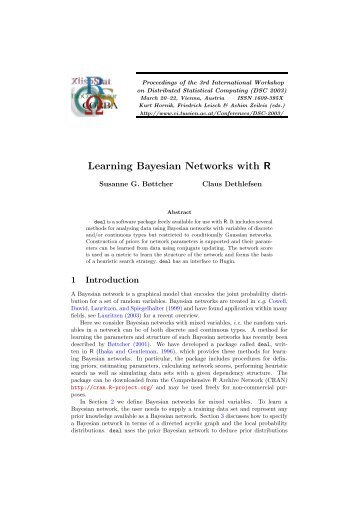 Learning Bayesian Networks with R - The R Project for Statistical ...