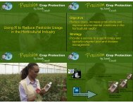 Using R to Reduce Pesticide Usage in the Horticultural Industry