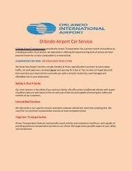 Orlando Airport Car Service