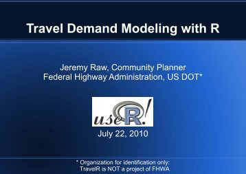 TravelR - The R Project for Statistical Computing