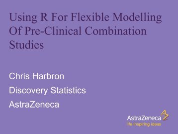 Using R For Flexible Modelling Of Pre-Clinical Combination Studies