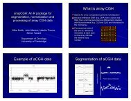 What is array CGH Example of aCGH data Segmentation of aCGH ...