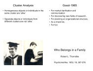 Cluster Analysis Good-1965 Who Belongs in a Family
